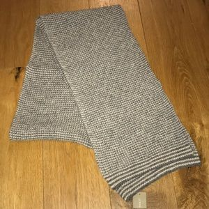 J. Crew Men's Grey and White Scarf. Never Worn